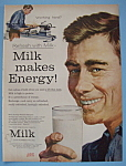 Click here to enlarge image and see more about item 11458: Vintage Ad: 1958 Milk Makes Energy