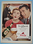 Click here to enlarge image and see more about item 11459: Vintage Ad: 1958 Carling Red Cap Ale