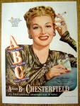 Click to view larger image of Vintage Ad: 1947 Chesterfield Cigarettes w/Ann Sheridan (Image1)