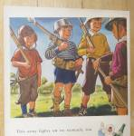 Click to view larger image of 1942 Clicquot Club Soda with Boys Playing Army  (Image2)