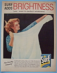 1957 Surf Laundry Detergent with Woman with a Shirt