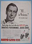 Vintage Ad: 1952 Auto-Lite Spark Plugs w/ Gary Cooper?