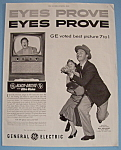1953 General Electric Black Daylite TV with Ray Milland