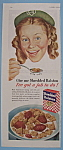 Click here to enlarge image and see more about item 11557: Vintage Ad: 1944 Shredded Ralston