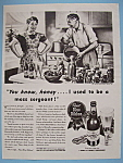 Click here to enlarge image and see more about item 11568: Vintage Ad: 1943 Pabst Blue Ribbon Beer