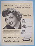 Vintage Ad: 1943 Max Factor with Claudette Colbert