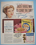 Vintage Ad: 1943 Cheerioats with Veronica Lake