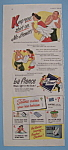 Click here to enlarge image and see more about item 11579: Vintage Ad: 1944 La France & Satina Soap