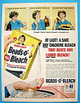 Click here to enlarge image and see more about item 11596: Vintage Ad: 1958 Beads O Bleach