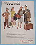 1946 Pennsylvania Railroad w/ Family Waiting for Train