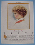 1946 Breck Shampoo with Side View Of Young Child