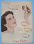 Click here to enlarge image and see more about item 11649: Vintage Ad: 1948 Jacques Kreisler Circlette Watch Band