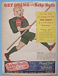 Click here to enlarge image and see more about item 11689: Vintage Ad: 1939 Baby Ruth Candy Bar