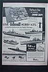 1950 Revell Hobby Kits with Boat Models For Dad