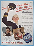 Click here to enlarge image and see more about item 11694: Vintage Ad:1937 Maxwell House Coffee/Charles Winninger