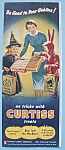 Click here to enlarge image and see more about item 11714: 1955 Curtiss Candy Company with Children Trick or Treat