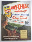 Click to view larger image of 1945 Ray O Vac Flashlight Battery w Man & Flashlight  (Image2)