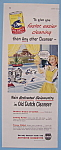 Vintage Ad: 1949 Old Dutch Cleanser