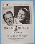 Vintage Ad: 1946 The Bells Of St. Mary's w/Bing Crosby
