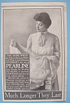1907 Pearline with Woman Holding Sheer Fabric