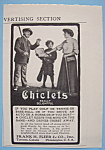 Click here to enlarge image and see more about item 11767: Vintage Ad: 1906 Chiclets