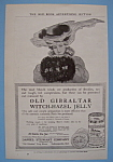 1906 Old Gibraltar Witch-Hazel Jelly with Lovely Woman