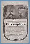 1906 Talk-O-Phone with Two Children Sitting & Listening