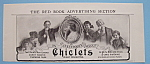 Click here to enlarge image and see more about item 11799: Vintage Ad: 1906 Chiclets