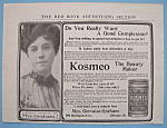 Click to view larger image of Vintage Ad: 1906 Kosmeo Toilet Cerate (Image1)