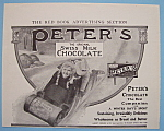 Click here to enlarge image and see more about item 11801: Vintage Ad: 1906 Peter's Swiss Milk Chocolate
