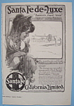 Click here to enlarge image and see more about item 11823: Vintage Ad: 1912 Santa Fe California Limited