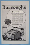 Click here to enlarge image and see more about item 11833: Vintage Ad: 1924 Burroughs Adding Machine Company