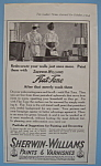 Vintage Ad: 1914 Sherwin - Williams Flat Tone