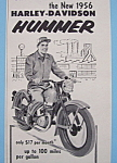 1955 Harley-Davidson Hummer with Man on Motorcycle