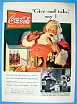 1937 Coca-Cola with Santa Claus with Chicken Leg