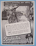Click here to enlarge image and see more about item 11889: Vintage Ad: 1941 Raybestos Brake Lining
