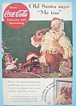Click here to enlarge image and see more about item 11891: Vintage Ad: 1936 Coca - Cola with Santa Claus