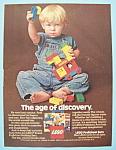 1978 Lego Blocks with Boy Playing with Blocks