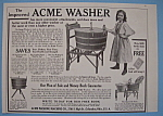 1907 Acme Washer with a Girl Using the Washer