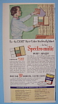 1955 Spectro-Matic Paint with Woman & Color Samples