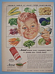 1955 Accent with Boy Smiling with Vegetables on a Fork