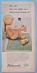 1956 Rubbermaid Bath Mat w/Little Girl Sitting on Mat