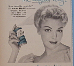 Click to view larger image of Vintage Ad:1956 Lustre-Net Spray Set with Vivian Blaine (Image1)