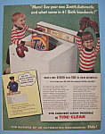 Vintage Ad: 1956 Zenith Automatic Washer