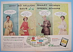 Click to view larger image of Vintage Ad: 1956 S & H Green Stamps (Image1)