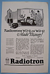 Click here to enlarge image and see more about item 11995: Vintage Ad: 1924 Radiotron