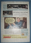 Click here to enlarge image and see more about item 12017: Vintage Ad: 1940 Camel Cigarettes w/ Roy Conacher