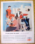 1957 Dow Latex Paint with Group of People Painting
