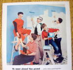 Click to view larger image of 1957 Dow Latex Paint with Group of People Painting (Image2)