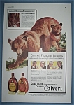 Click here to enlarge image and see more about item 12031: Vintage Ad: 1941 Calvert Whiskey